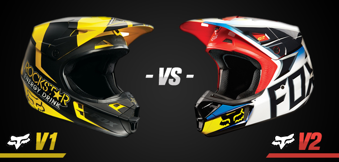 Comparativa cascos Fox  V1 vs V2 · Motocard 447b58f18a5