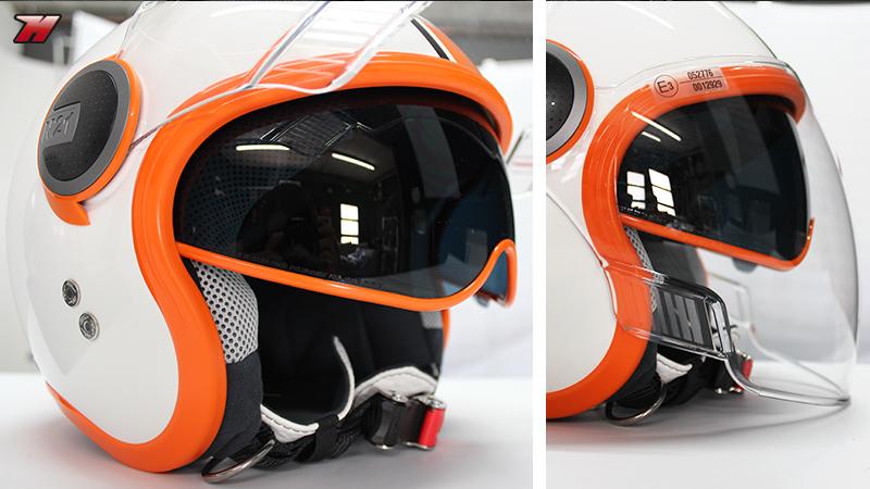 Nolan N21 Visor Duet White Orange