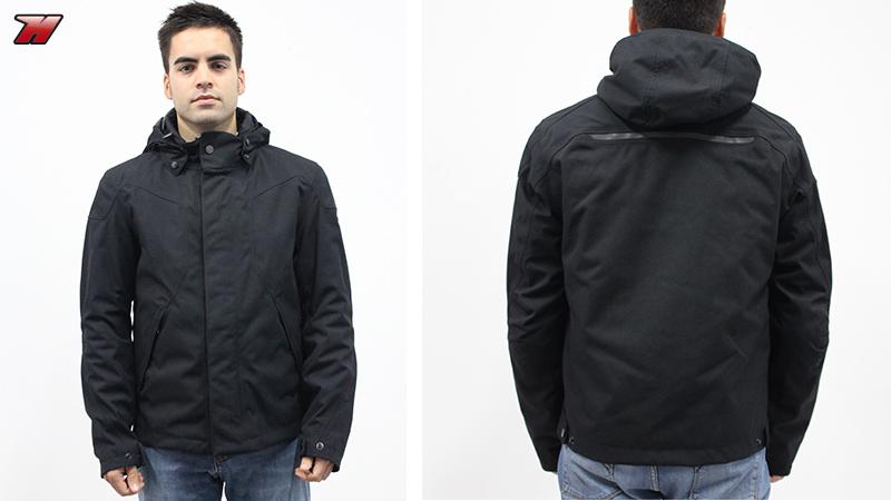 Vista delantera y trasera de la chaqueta Dainese Montmartre D1 D-Dry. 137e9a8c057