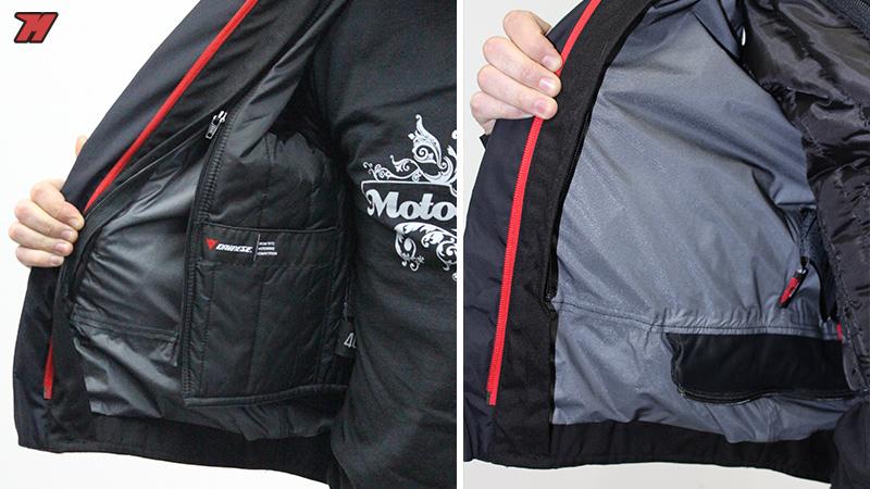 d31d0a7cf2c Detalle del forro térmico extraíble (izquierda) y de la capa impermeable D- Dry unida a la chaqueta.