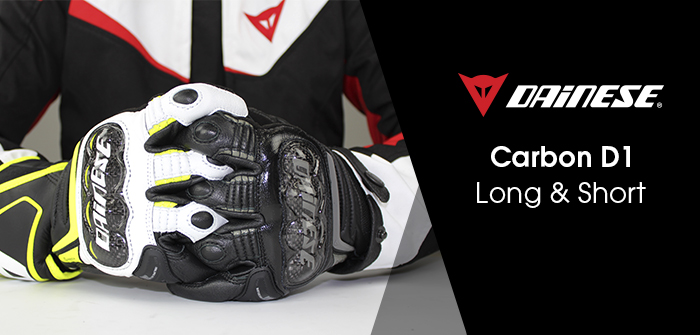 Dainese Carbon D1, gloves comparison