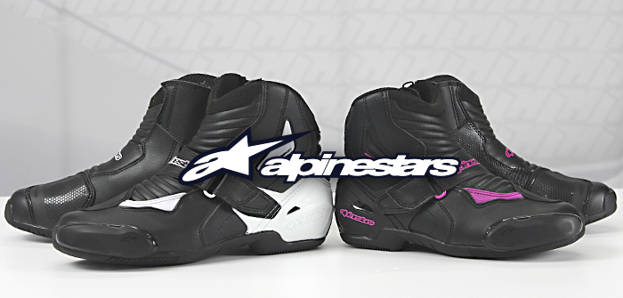 Alpinestars SMX-1 R, short cane, high sportiness