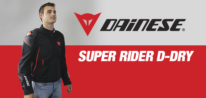 Dainese Super Rider D-Dry, the vented and waterproof jacket