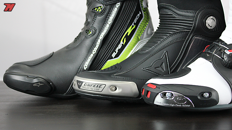 Racing boots comparative