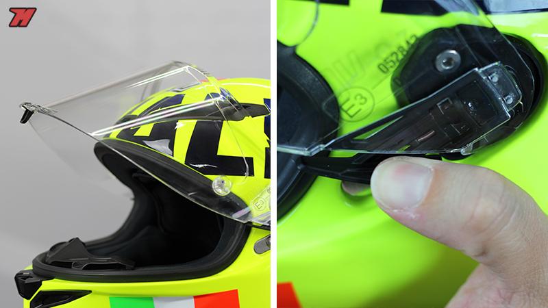 How to change the screen helmet