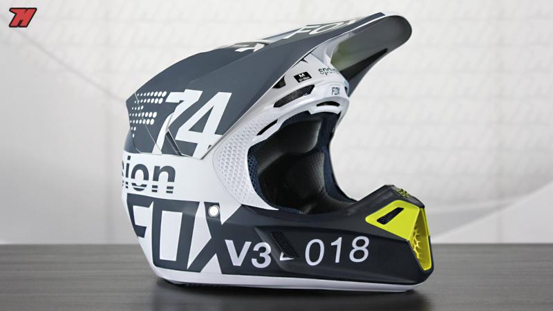 Fox V3 Helmet >> Review Fox V3 2018 Helmet Magnet For Motocross Motocard