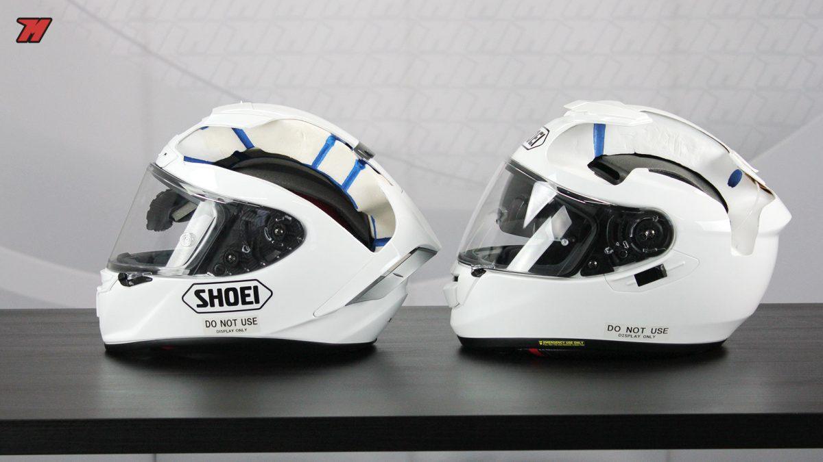 Cascos racing vs cascos sport-touring Imagen comparativa donde apreciamos  algunas de ... ec3bd8c0c48