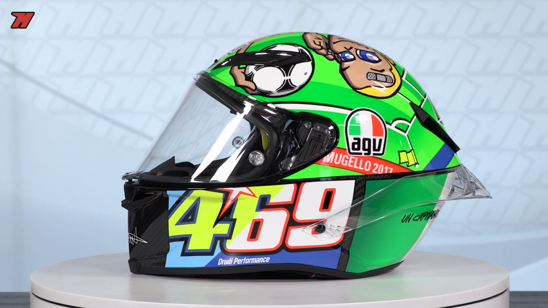 These Are The 14 Most Curious Rossi Helmets Motocard