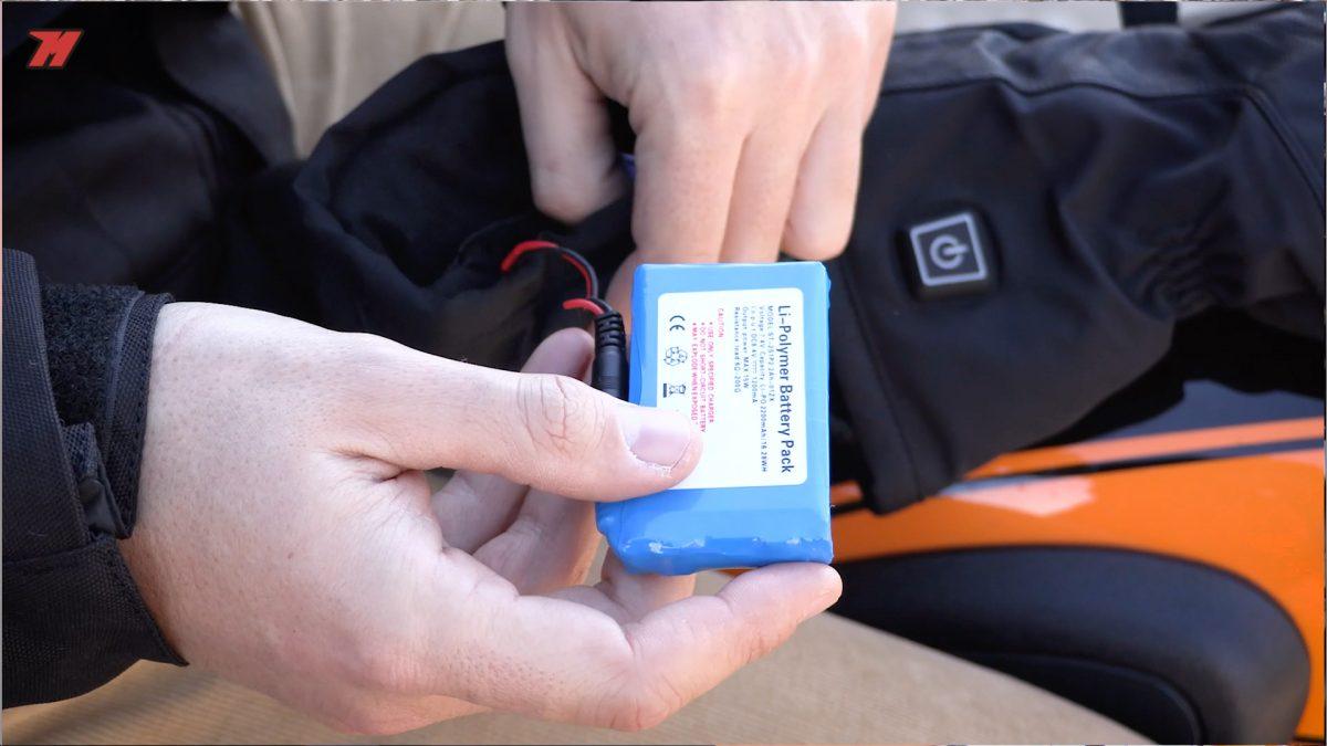 batería guantes calefactables