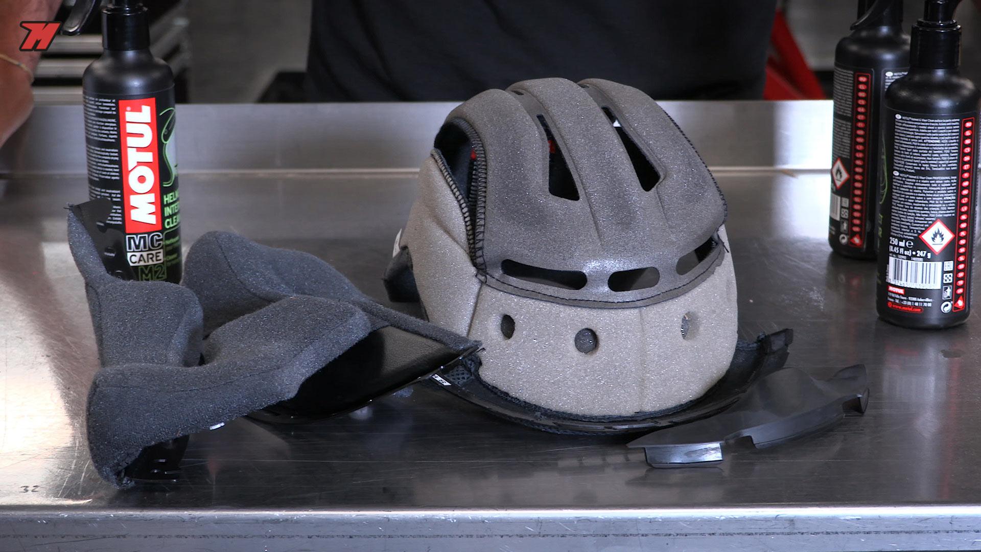 interieur casque moto