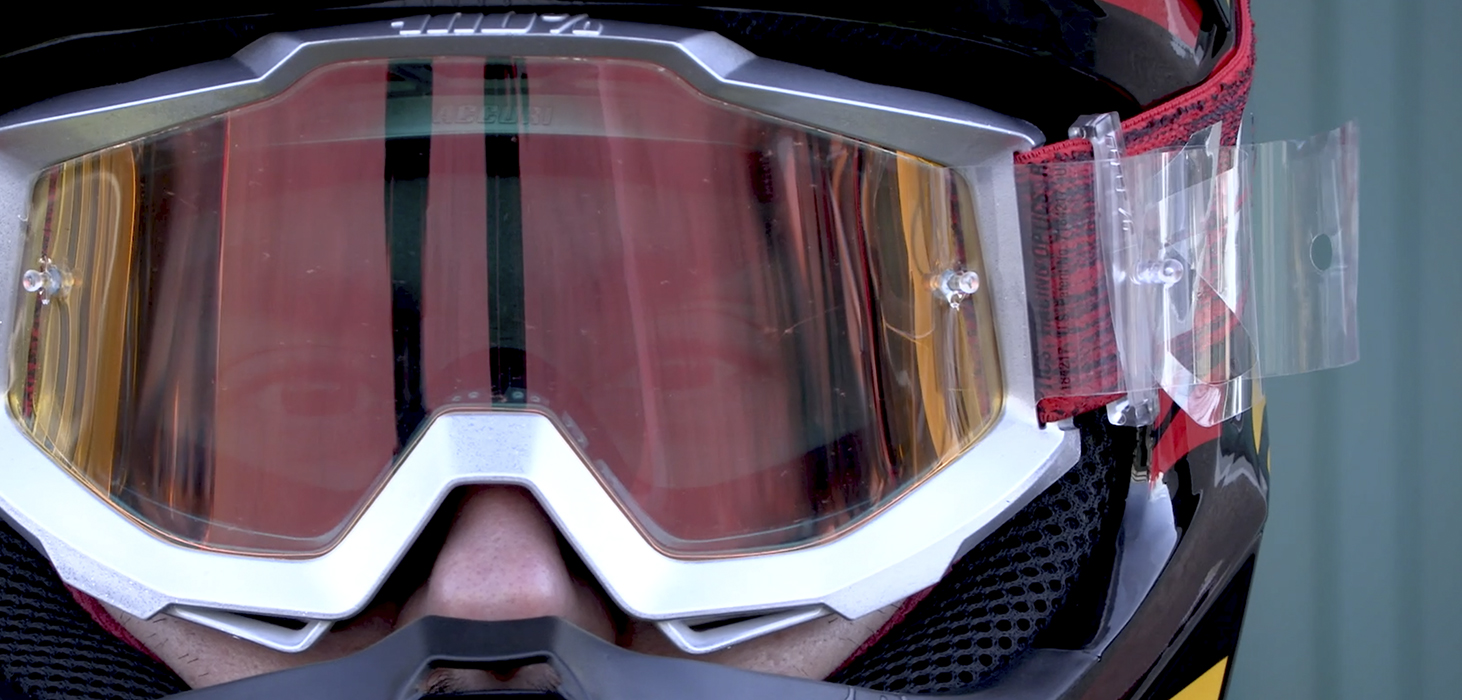 How To Install The Tear Off On The Motocross Goggles Motocard
