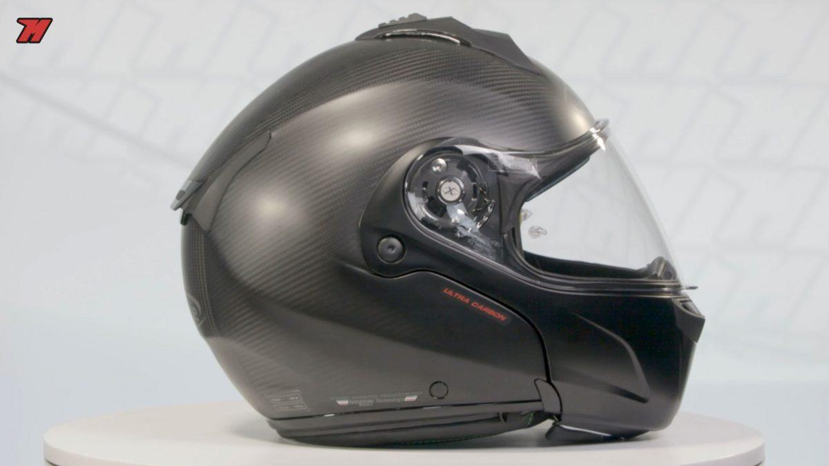 El X-Lite X-1004 Ultra Carbon es también no de los pocos cascos de su categoría hecho de carbono.
