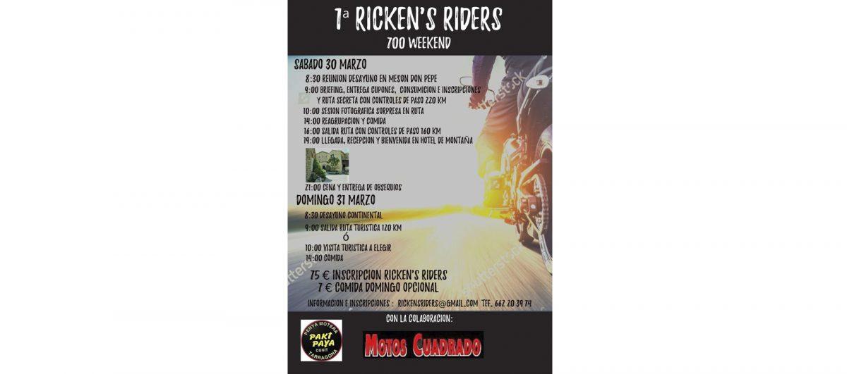 Concentraciones moteras y eventos marzo 2019 Rickens Riders