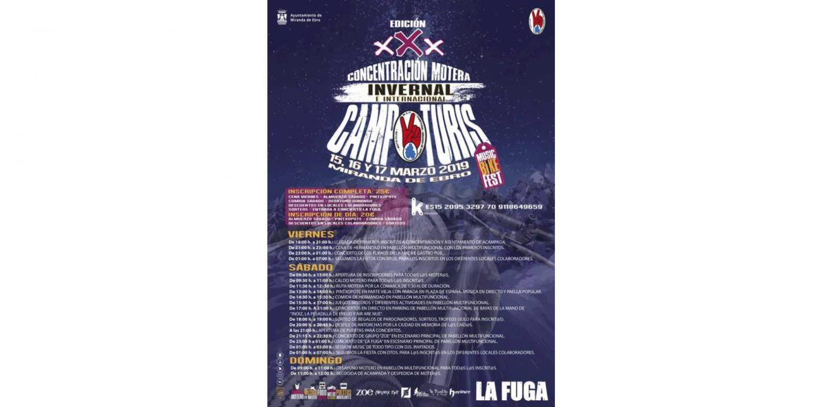 Concentraciones moteras y eventos marzo 2019 Campturis