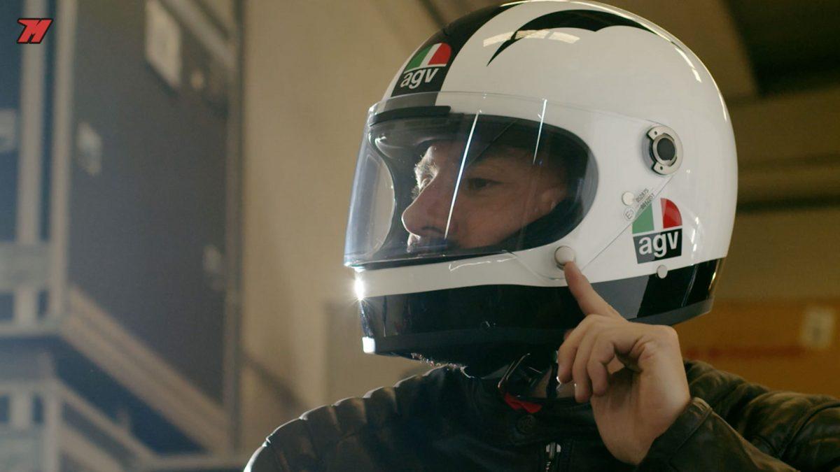 El AGv es un casco inspirado en leyendas. Esta gráfica es de Ángel Nieto.