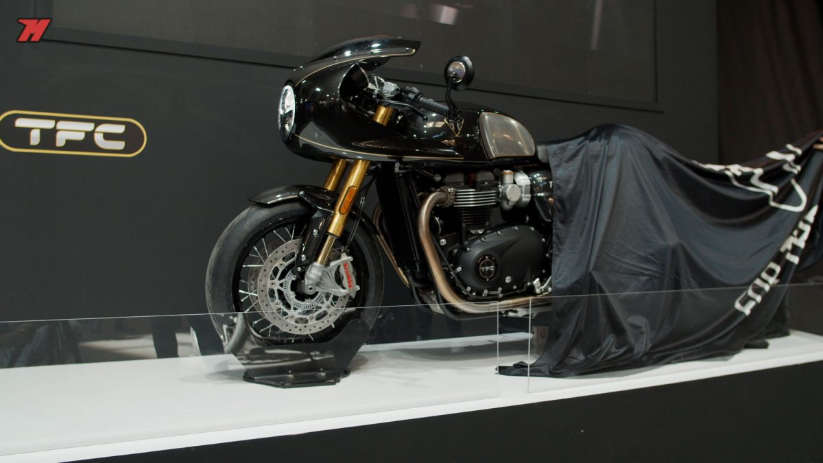 Esta edición especial de la Triumph Truxton estuvo presente en Barcelona.