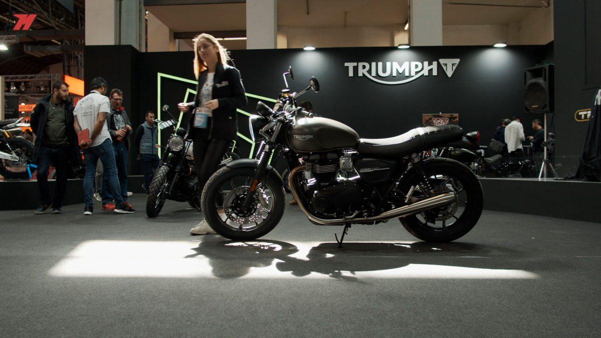 Triumph estuvo muy presente en el Salón de la Moto Vive la Moto de Barcelona.