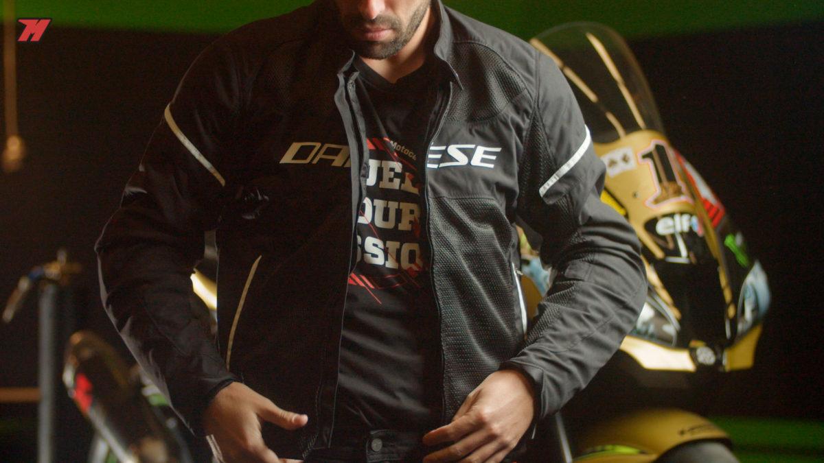 Así es esta chaqueta de Dainese.