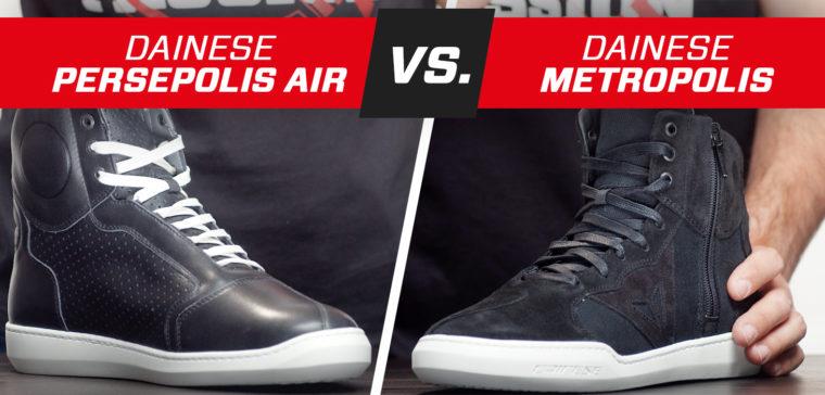 Análisis de las botas de moto urbanas Dainese Metropolis y Persepolis Air.