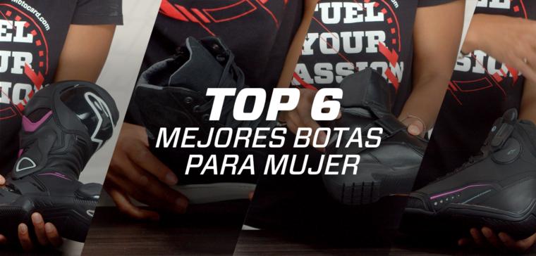 Estas son las 6 mejores botas de moto para mujer.