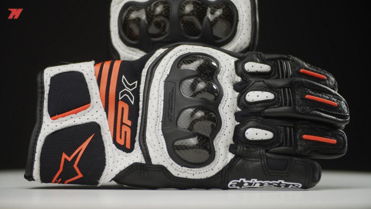 Estos guantes Alpinestars SP Air-X V2 son de caña corta