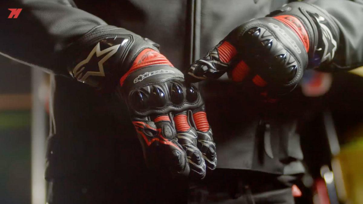 Estos guantes son perfectos para rodar en circuito.