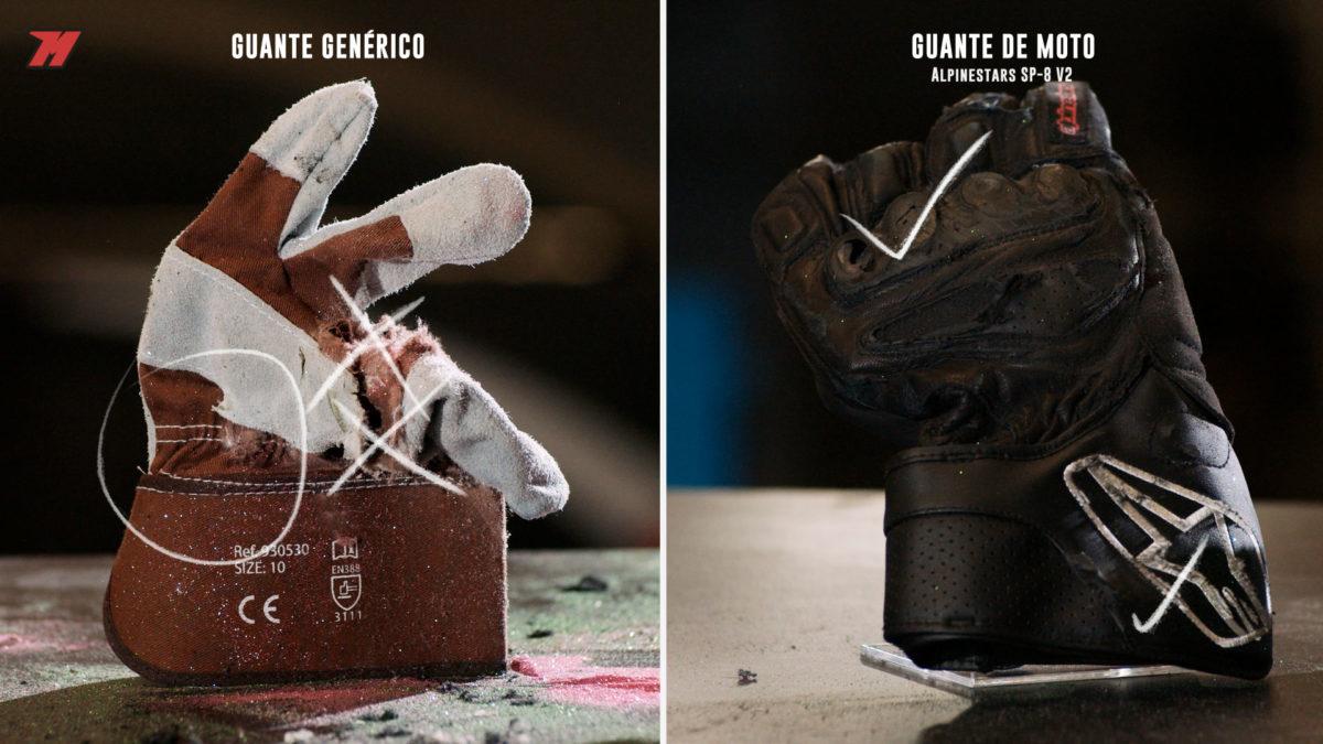 Esta es la diferencia entre un guante específico y otro que no lo es.