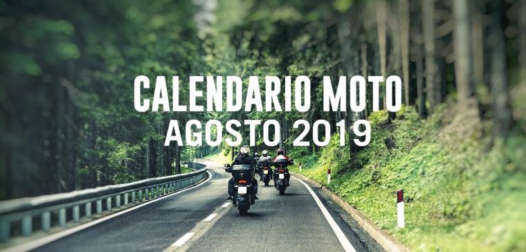Calendario motero de agosto 2019