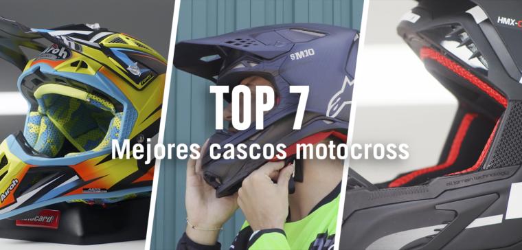 Comparativa de los mejores cascos de motocross.
