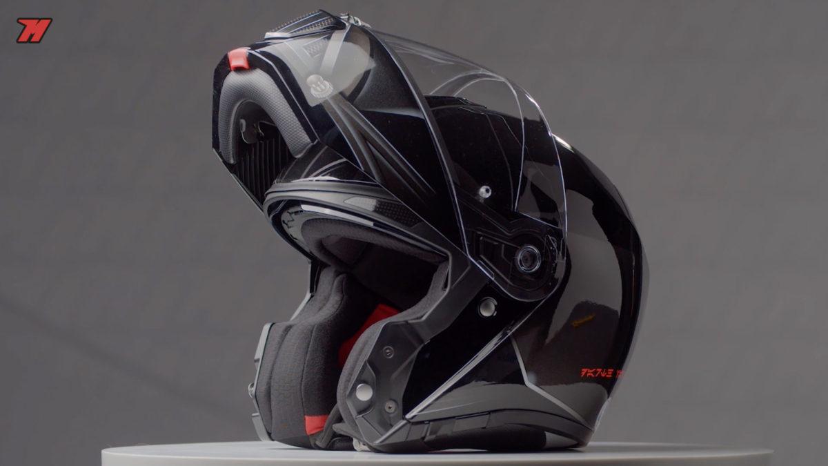 Casco de moto modular de Star Wars.