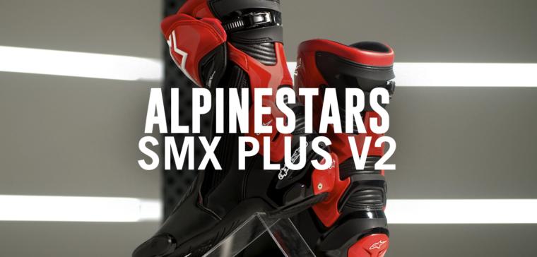 Botas Alpinestars SMX Plus V2, botas de moto deportivas superventas y renovadas