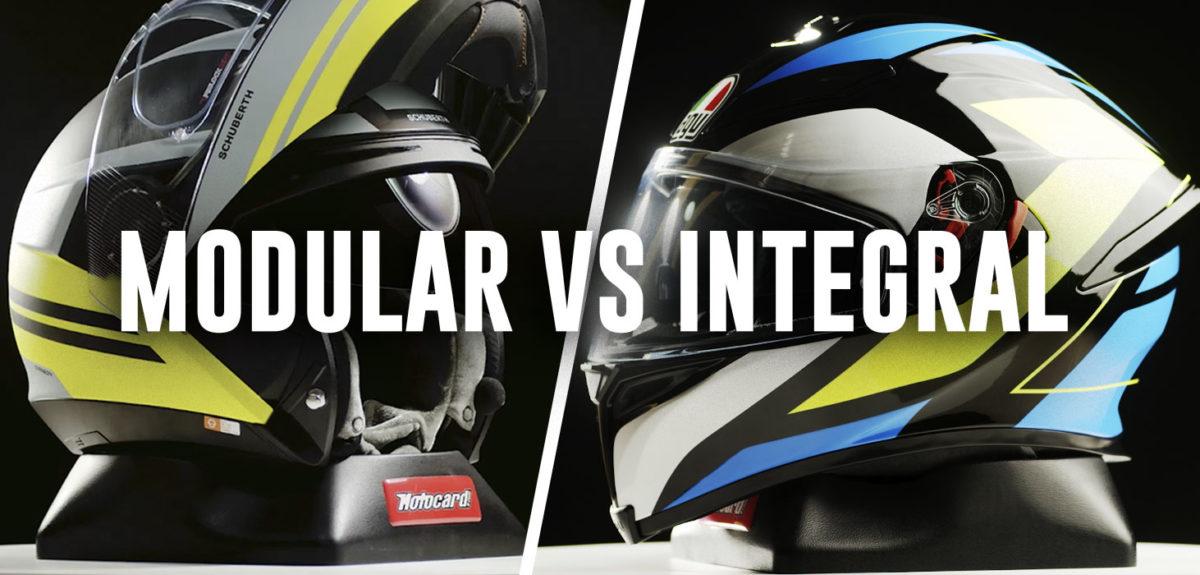Casco de moto integral vs casco modular. ¿Cuál es mejor?