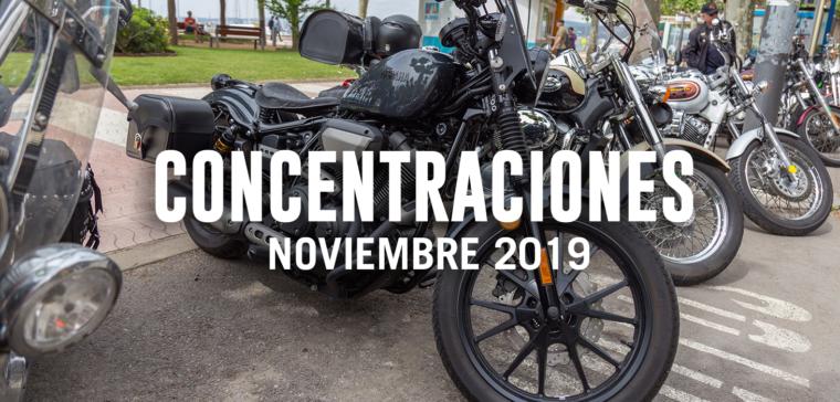 Hacemos un repaso de las mejores concentraciones moteras de noviembre 2019