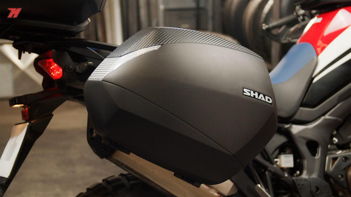 Las maletas laterales de Shad tienen una gran capacidad.
