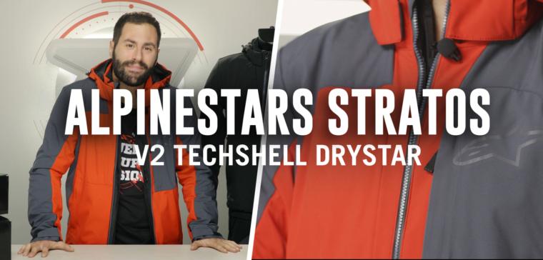 Te explicamos todas las características de la chaqueta Alpinestars Stratos V2 Techshell
