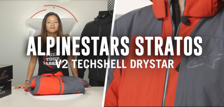 Blouson Alpinestars Stratos V2 Techshell Drystar, pour des petits trajets quotidiens