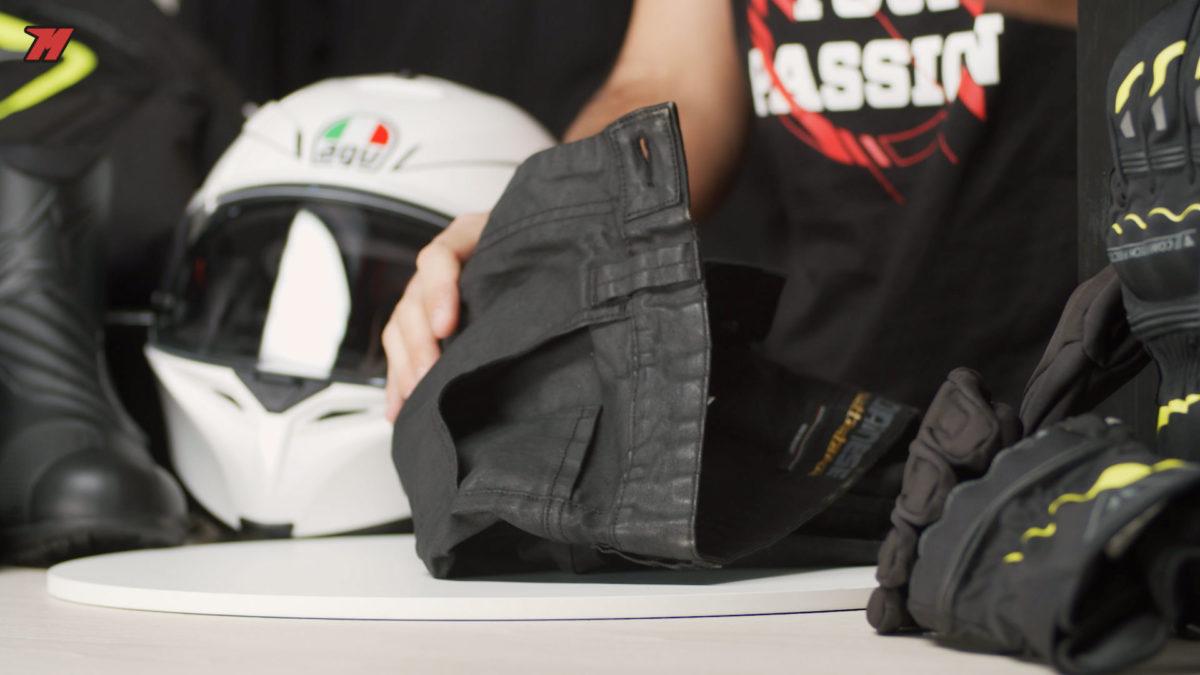 Jean moto avec protections