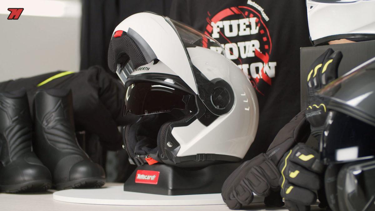 Este casco modular es una excelente opción