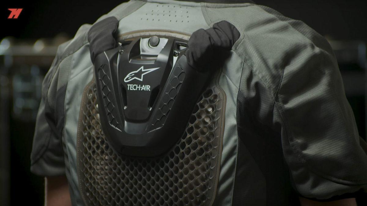 Así luce la espaldera del sistema de airbag de Alpinestars