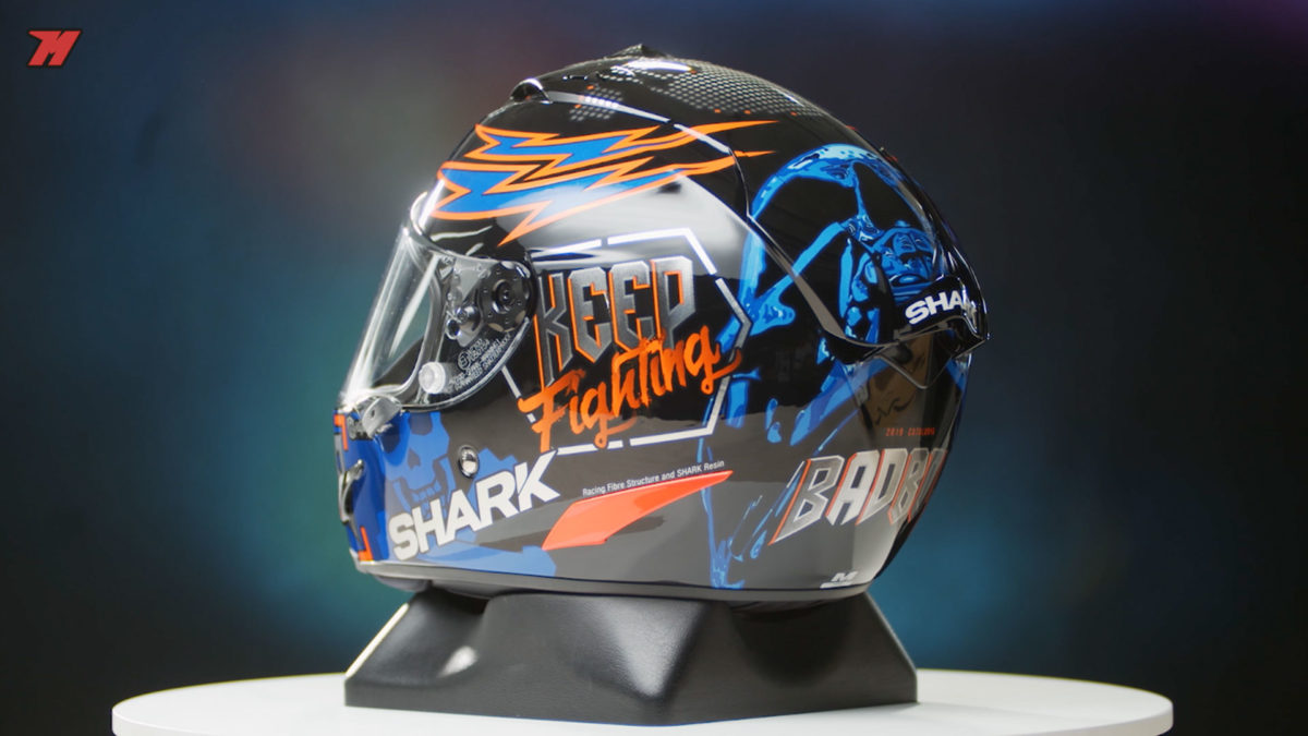 El casco Shark race-R Pro GP está disponible en muchas gráficas de Jorge Lorenzo