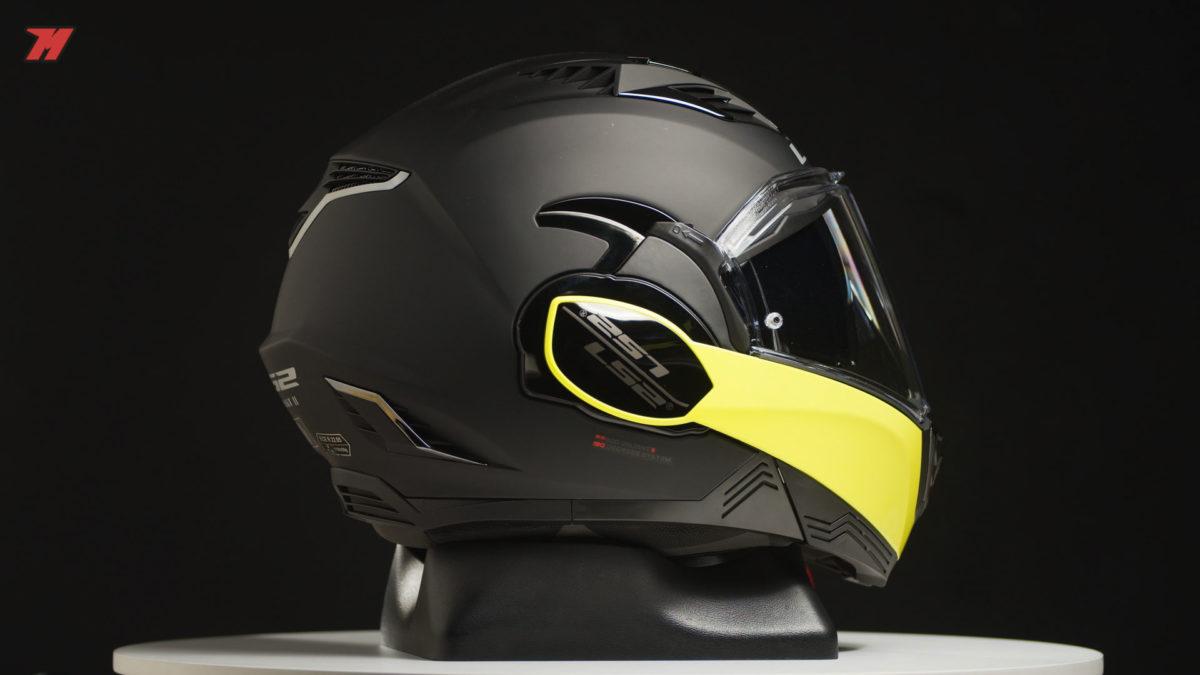 Así luce el nuevo casco de moto modular LS2 Valiant