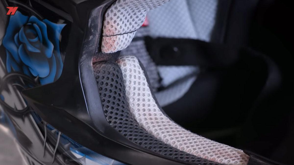 Los cascos de motocross sufren más que los de carretera