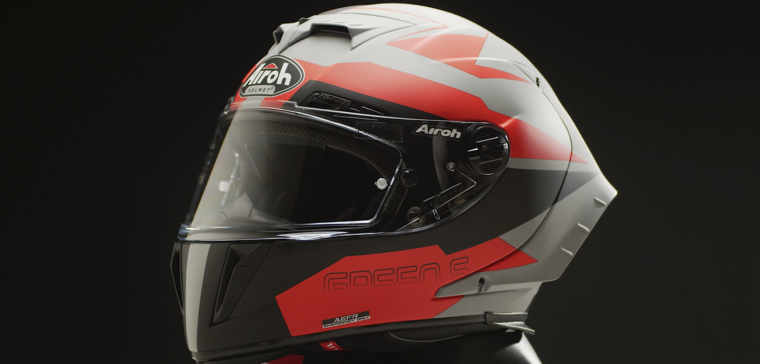 Airoh GP 550 S motorcycle helmet with a superb quality-price ratio