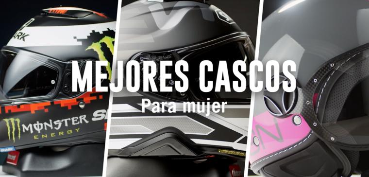 Hacemos un repaso de los mejores cascos de moto para mujer