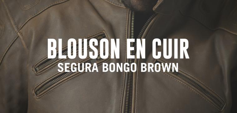 Blouson Segura Bongo Brown, un blouson de moto en cuir offrant un design vintage