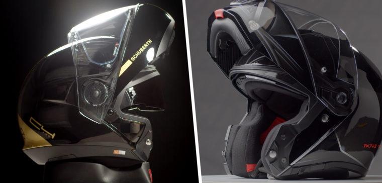 casco de moto modular o integral
