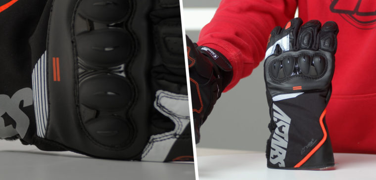 Estos guantes Alpinestars son guantes racing e impermeables