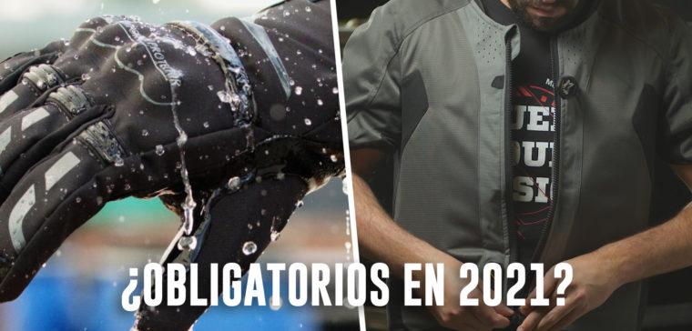 Los guantes y el airbag de moto podrían ser obligatorios este 2021